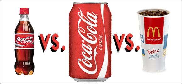 bottled vs can vs fountain coke pop soda