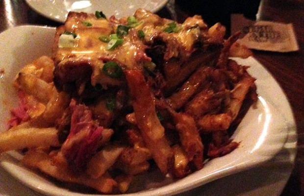 pulled pork cheese fries big bricks chicago