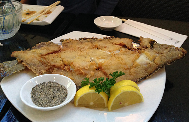 umi grill fried flounder
