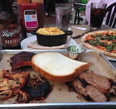 bbq flight smylie brothers brewing evanston restaurant