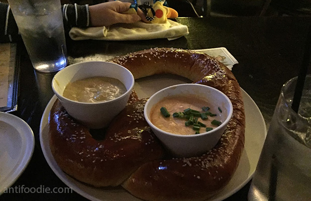 the garage bar chicago ginormous pretzel