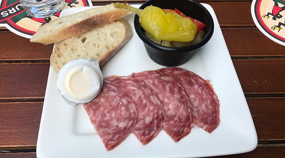 salami bread les 3 brasseurs