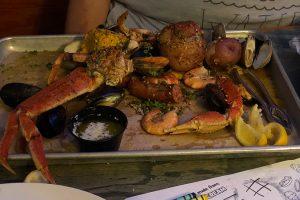 tybee island seafood plate crabby bills seafood