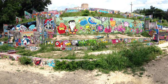 Graffiti Wall in Austin