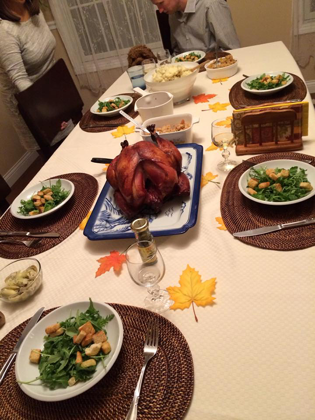 thanksgiving dinner 2013