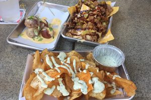 pretzel bites potato chips pulled pork nachos tiny hatt
