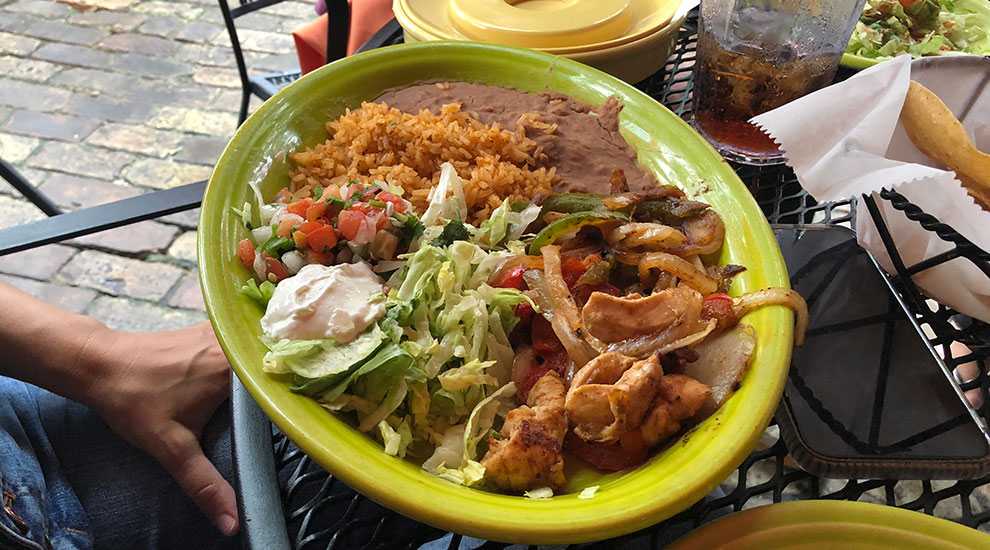 chicken fajitas matts el rancho