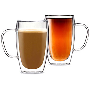 kitchables insulated coffee glass