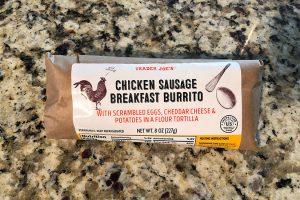 trader joes chicken sausage breakfast burrito