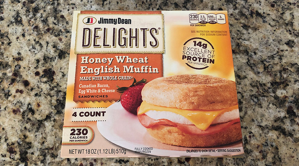 Jimmy Dean Delights Breakfast Sandwich W Canadian Bacon Egg And Cheese Review