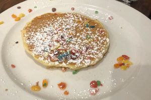 fruity pebbles pancakes brunch cafe