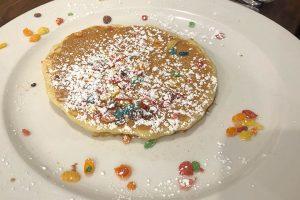 fruity pebbles pancakes brunch cafe