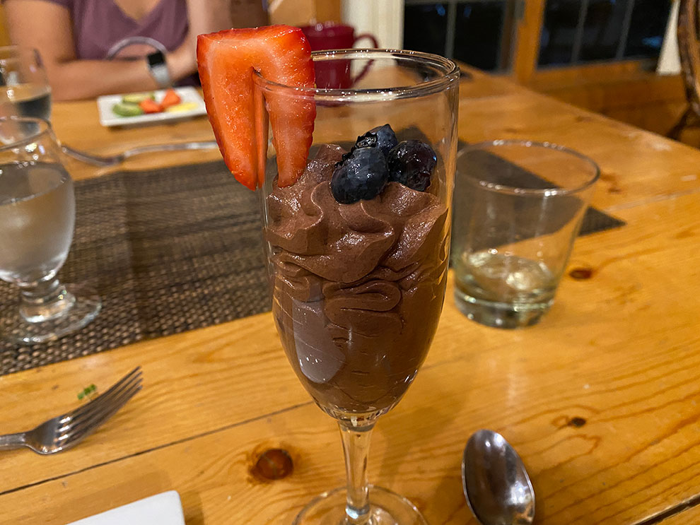 chocolate mousse dessert lake geneva